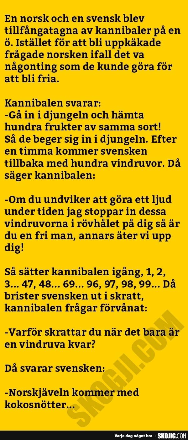 norska skämt om svenskar